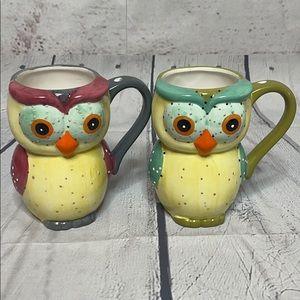 Home Essentials Set Of 2 Owl Mugs!